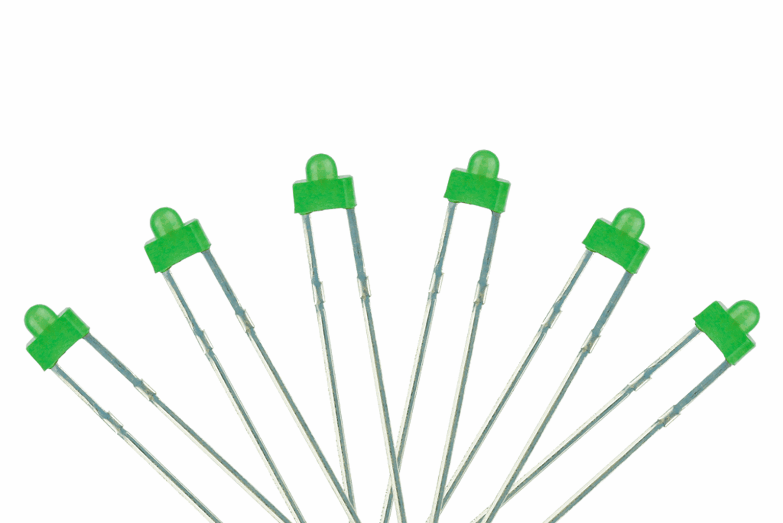 Panel Dot Type  6x 1.8mm (w/resistors)  Green