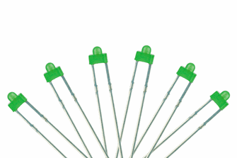 Panel Dot Type  6x 1.8mm (w/resistors)  Green