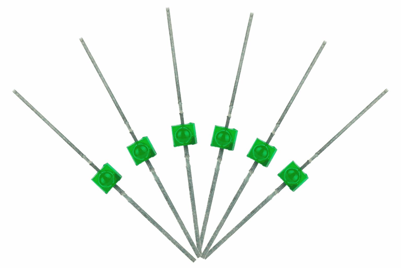 Mini Butterfly Type  6x 1.6mm (w/resistors)  Green