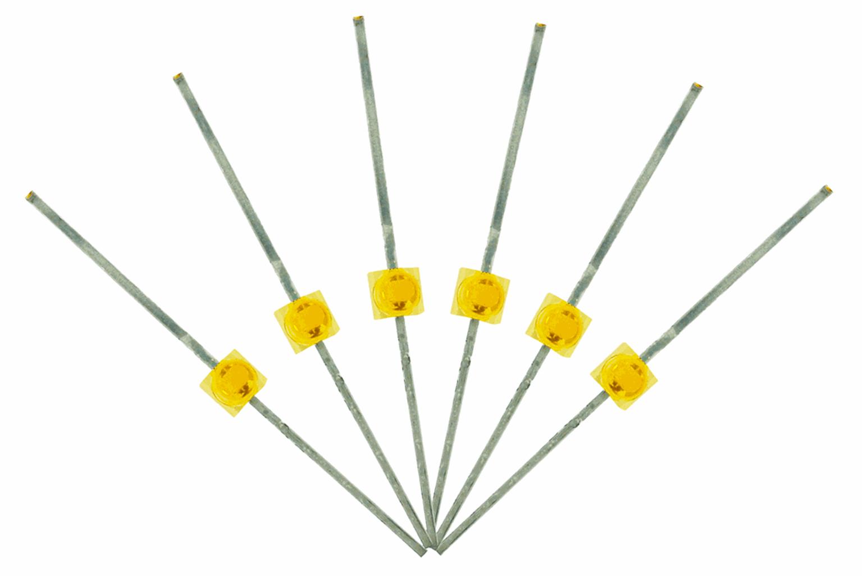 Mini Butterfly Type  6x 1.6mm (w/resistors)  Prototype White