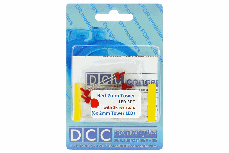 Tower Type  6x 2mm (w/resistors)  Red
