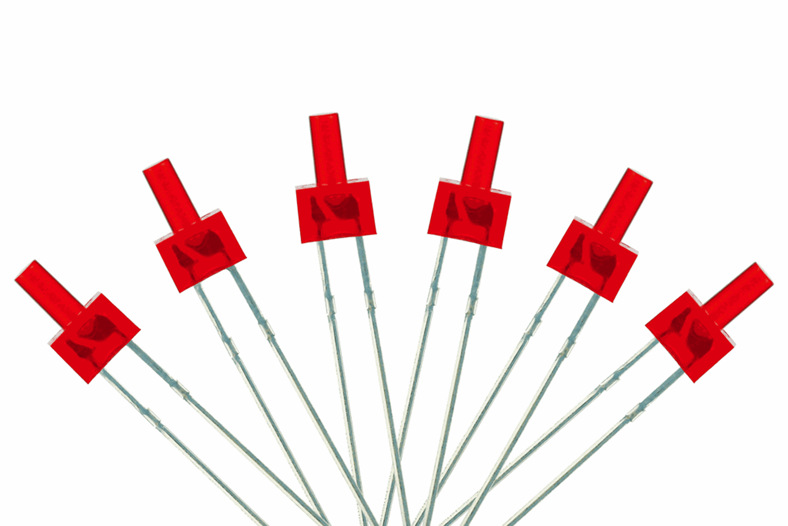 Tower Type  6x 2mm (w/resistors)  Red