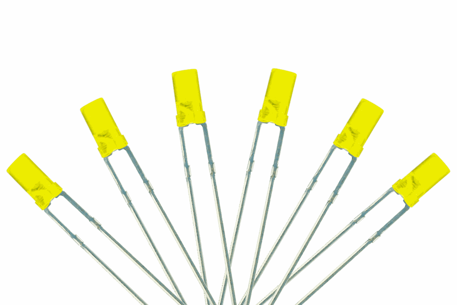 Flat Front Type  6x 3mm (w/Resistors)  Signal Yellow