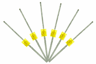 Mini Butterfly Type  6x 1.6mm (w/resistors)  Yellow