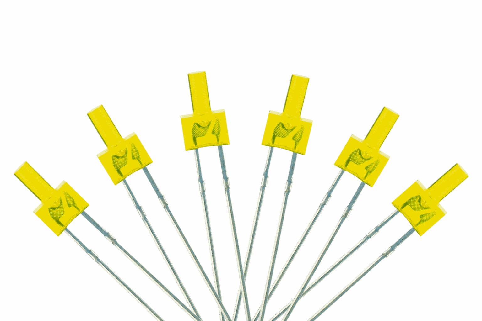 Tower Type  6x 2mm (w/resistors)  Yellow