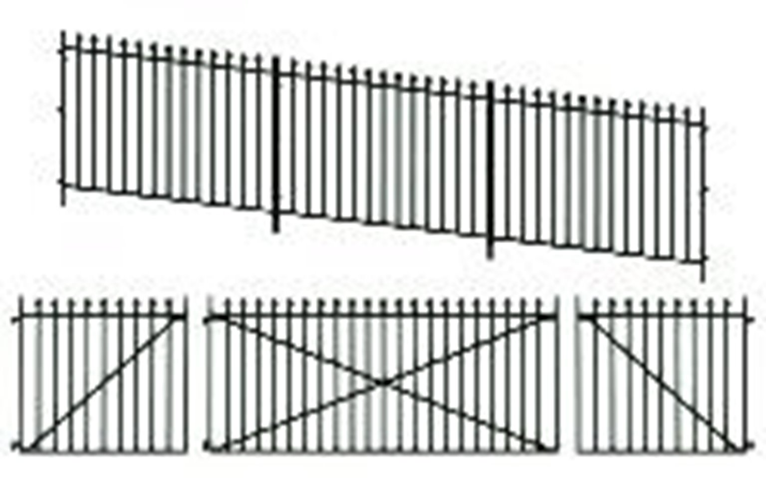 Peco LK-742 GWR Spear Fencing, Ramp panels, gates and posts