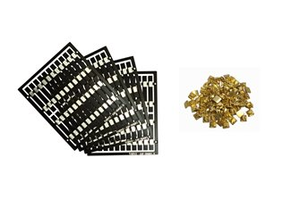 Legacy Models – 80x Pre-Etched Sleepers 1.6mm (4mm scale) + 80 Brass Chairs