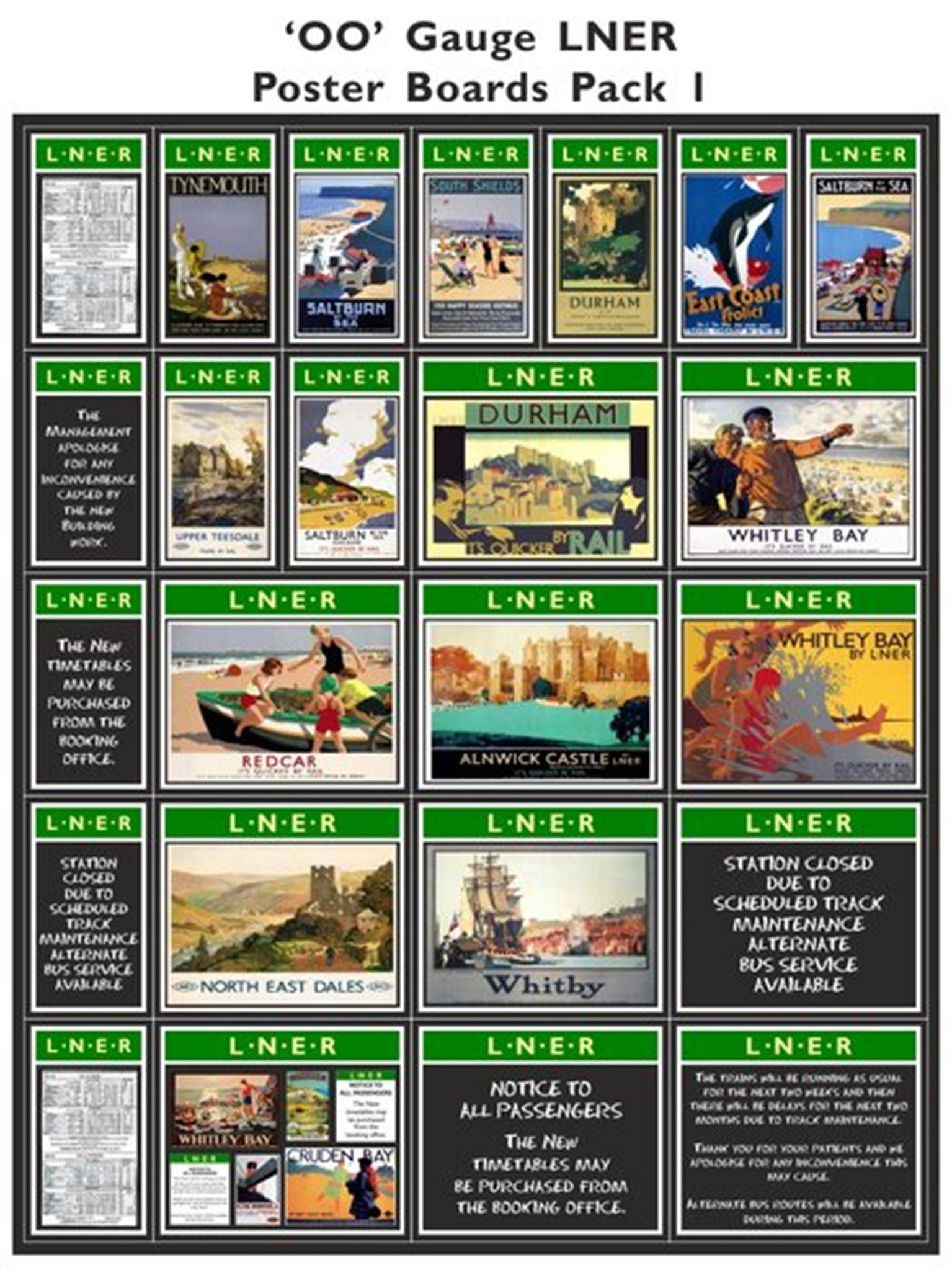 LNER Poster Boards Pack 1