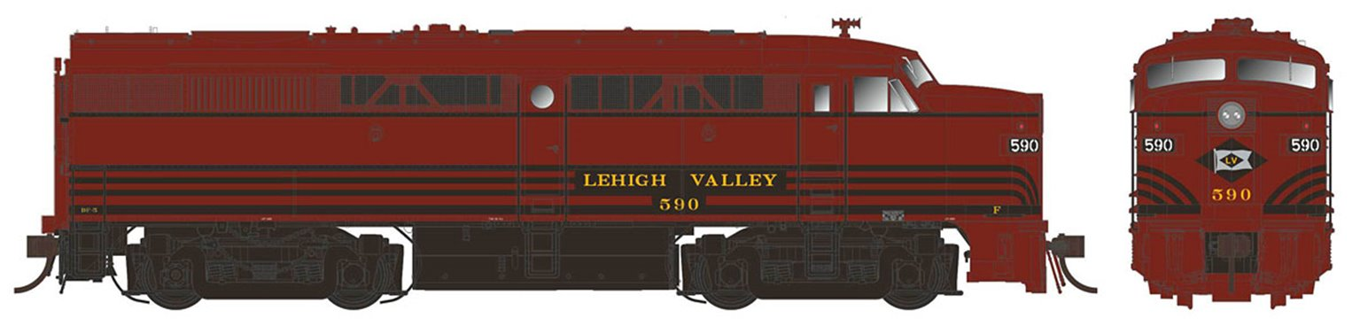 Alco/MLW FPA-2 Locomotive - LV Delivery Scheme #590 - DC/Silent