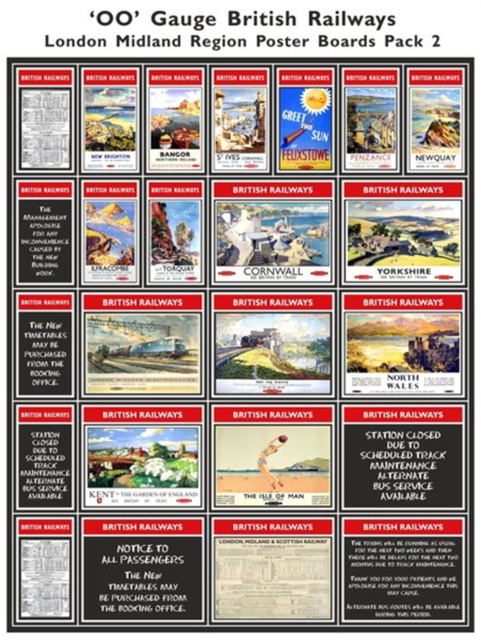 British Railways London Midland Region Poster Boards Pack 2