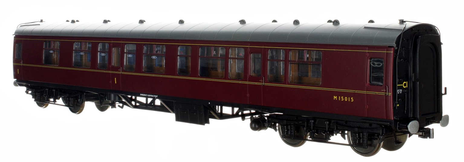 BR MR Maroon CK Coach No. M15015 (DCC Fitted)