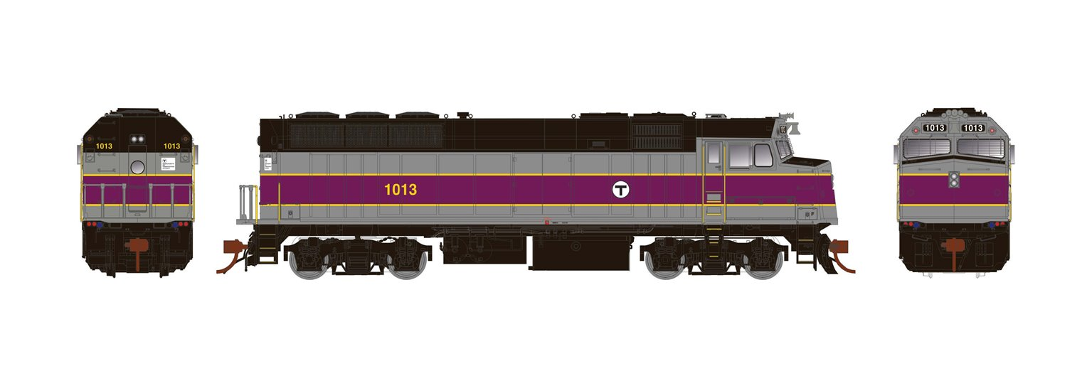 HO F40PH Ph3 non-dynamic: MBTA #1014