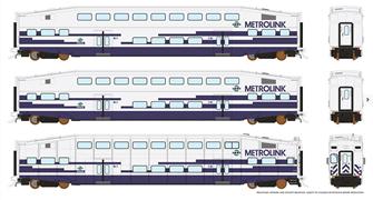HO BiLevel Commuter Car - Metrolink