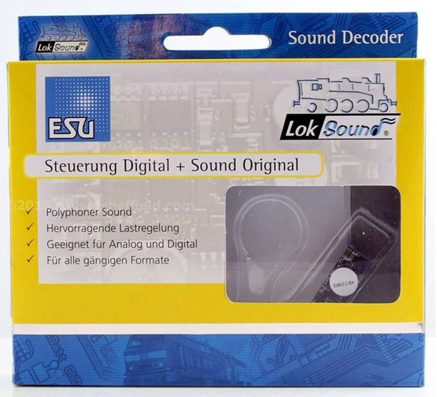 V4.0 Micro Diesel Class 03Digital Sound Decoder with Speaker - 8 pin
