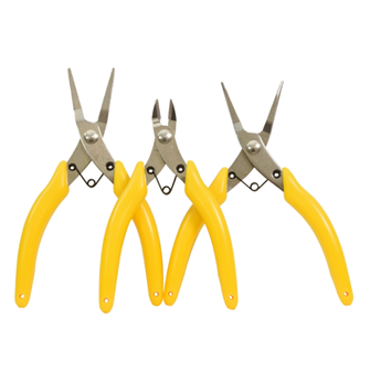 Modellers Pliers Set (3 Pieces - Snipe, Flat & Side Cutter)