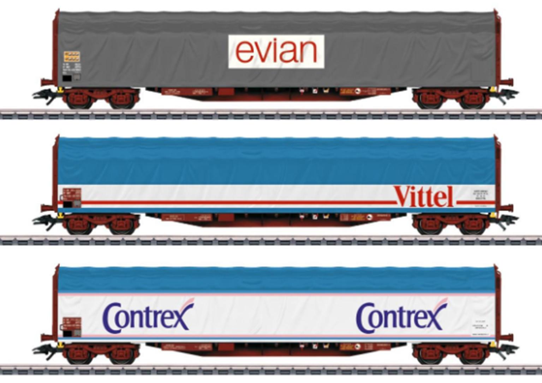 SNCF Rils Evian/Vittel/Contrex Tarpaulin Wagon Set (3) IV