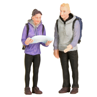 Bachmann G scale Man and Woman Hikers