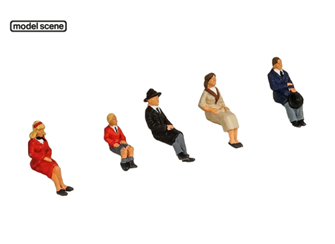 SEATED PEOPLE (5) FIGURE SET
