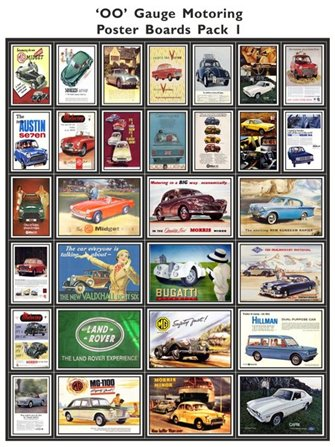 Motoring Poster Boards Pack 1
