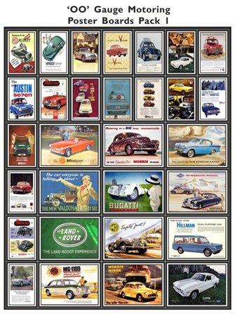 Motoring Poster Boards Pack 1