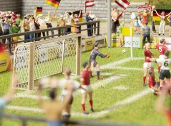 Football Goalposts(2) & Corner Flags(4) Laser Cut Minis Kit