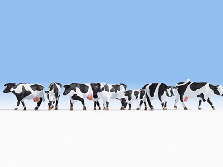 Figures - Black & White Cows (7) Set