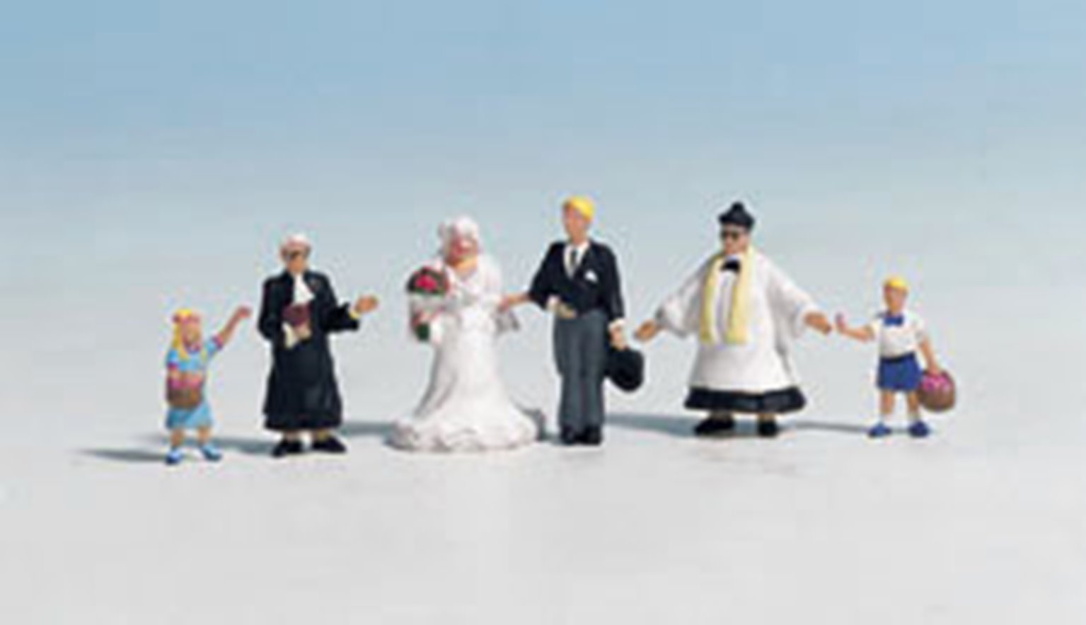 Figures - Wedding Group with Priest