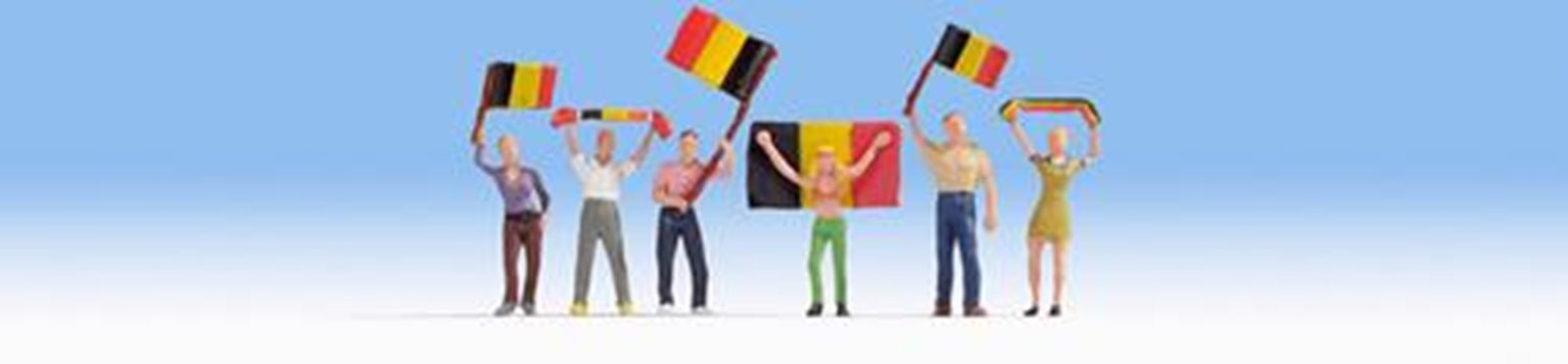 Figures - Belgium Football Fans (6) Set