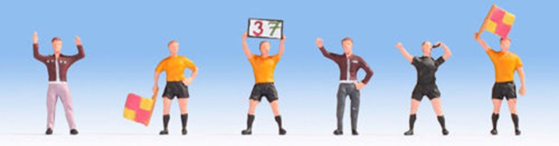 Football Match Officials (4) & Coaches (2) Figure Set