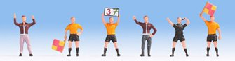 Football Match Officials (4) & Coaches (2) Figure Set