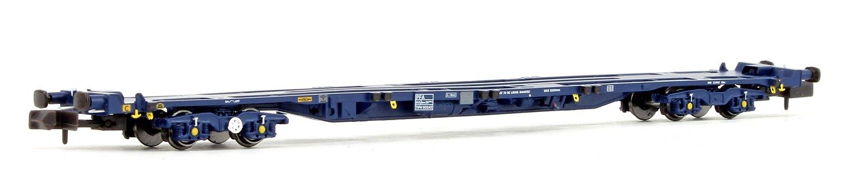 PFA Container Flat Wagon Blue GPS Bogies #93232