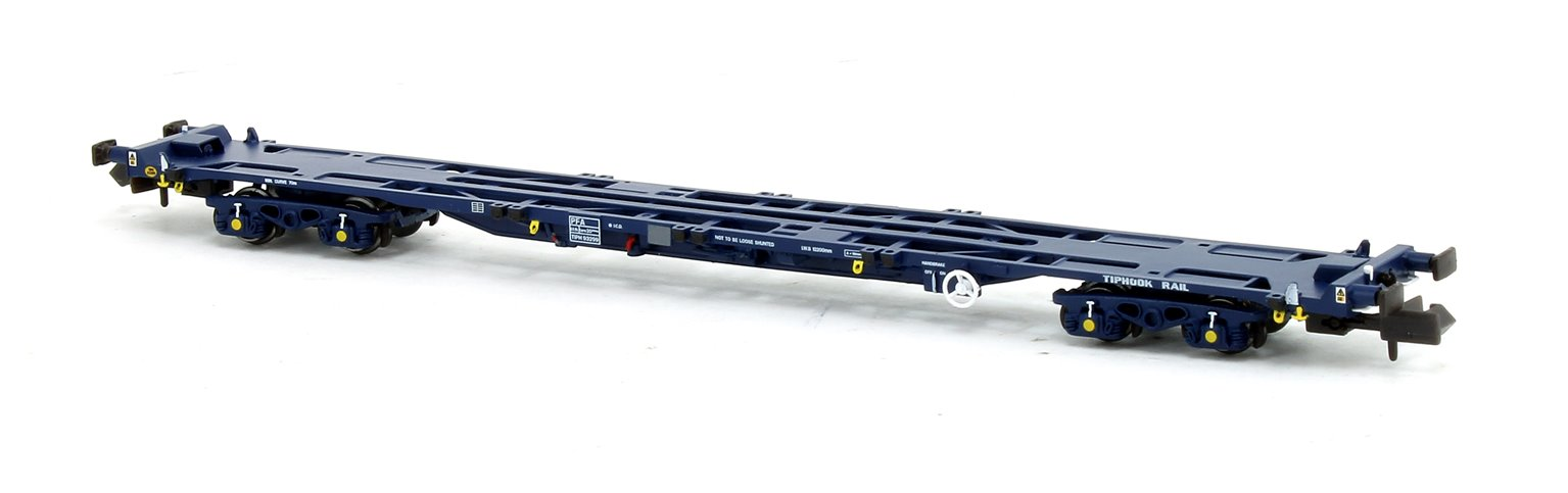 Set of 3 PFA Container Flat Wagons Tiphook VNH-1 Bogies