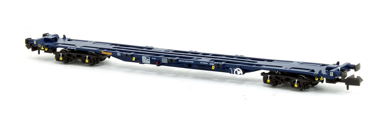 Set of 3 KFA Container Flat Wagons Touax VNH-1 Bogies