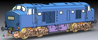 Class 23 Baby Deltic BR 2 tone green with small yellow warning panel Diesel Locomotive D5907