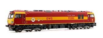 Class 92 92001 Victor Hugo EWS Maroon