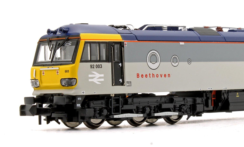 Class 92 92003 Beethoven Railfreight Grey
