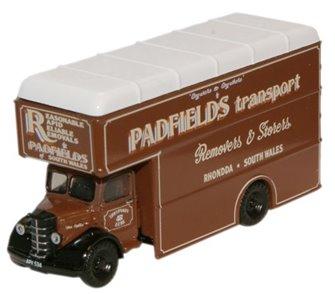 Oxford Diecast NBP003 Padfields Transport Bedford Luton Van