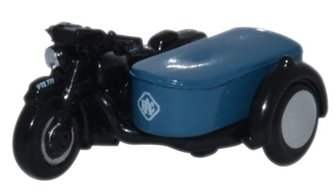 Oxford Diecast NBSA002 Motorbike and Sidecar RAC