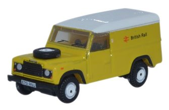 Oxford Diecast NDEF007 Land Rover Defender LWB Hard Top British Rail