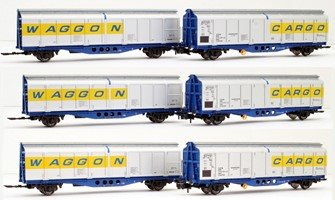 Original livery Cargowaggon twin sets – triple pack