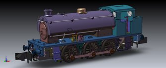 Class J94 0-6-0 Steam Locomotive number #68023 BR Early Crest Black with tall coal bunker