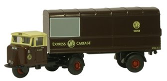 Oxford Diecast NMH011 Mechanical Horse Van Trailer GWR