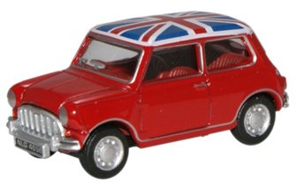 Oxford Diecast NMN001 Tartan Red / Union Jack Austin Mini
