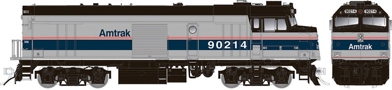 "Amtrak ""Cabbage"" NPCU – Phase IV Scheme #90214 - DC/DCC/Sound"