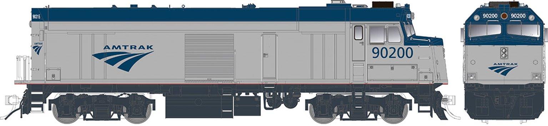 "Amtrak ""Cabbage"" NPCU – Phase V ""Swoosh"" Scheme #90208 - DC/Silent"