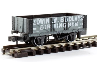 'Edwin Badland, Birmingham #50' 5 Plank Open Wagon - Grey with White Lettering