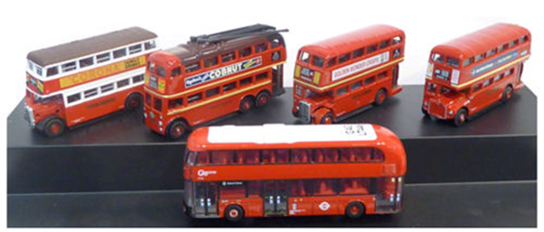 Oxford Diecast NSET004 London Transport Bus Set (5)