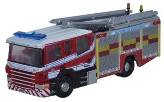 Oxford Diecast NSFE002 Scania Pump Ladder West Sussex F & R