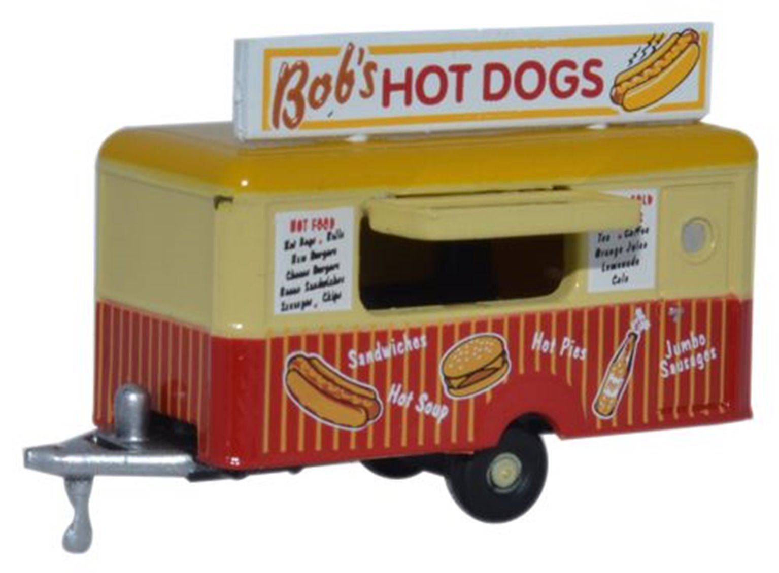 Oxford Diecast NTRAIL001 Mobile Trailer Bobs Hot Dogs