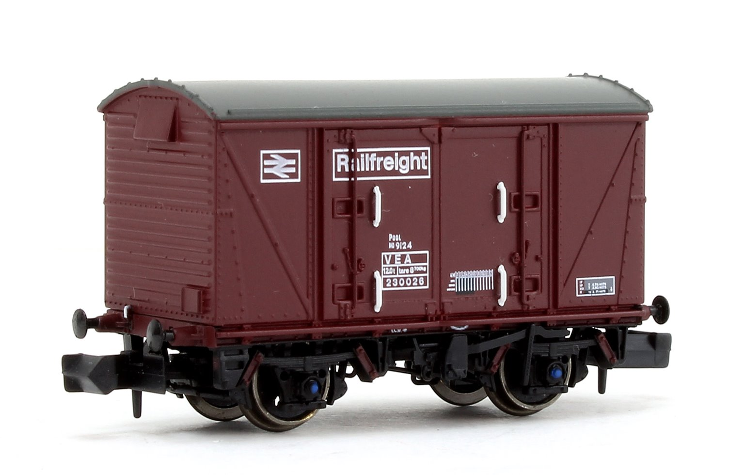 BR Maroon (Pristine) Railfreight VEA Munitions Van #230026